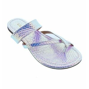 Iridescent Holographic Strappy Sandals